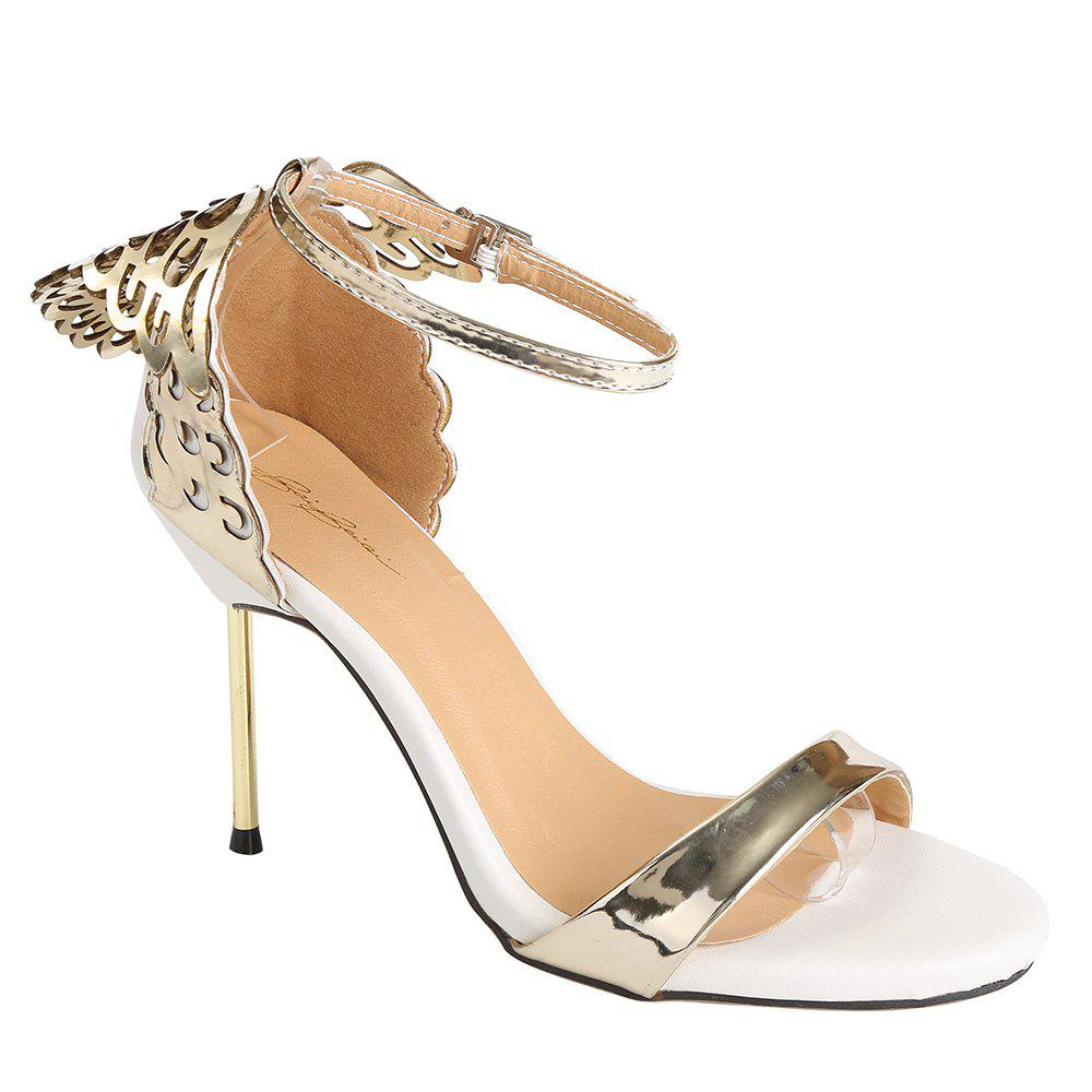 Fashion Wings and Hollow Out Design Women's Sandals - GOLDEN 39