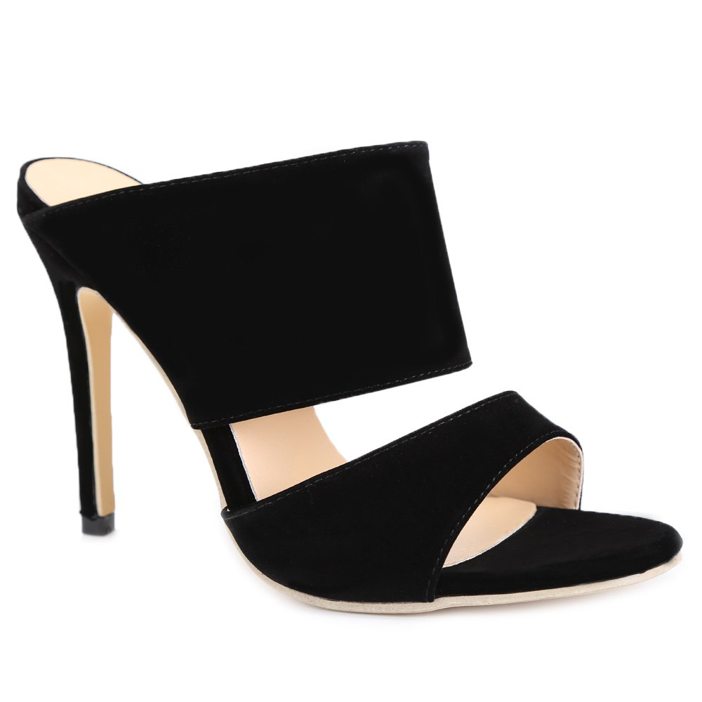 Sexy High Heels and Black Design Pumps For Women - BLACK 36