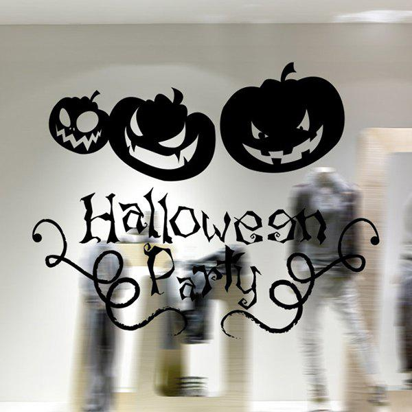 Removable Halloween Pumpkin Waterproof Room Wall Sticker ghost tree design removable room halloween wall sticker