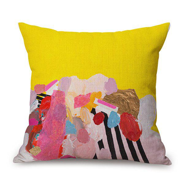 Artistic Scrawling Printed Sofa Cushion Pillow Case handpainted birds and leaf branch printed pillow case