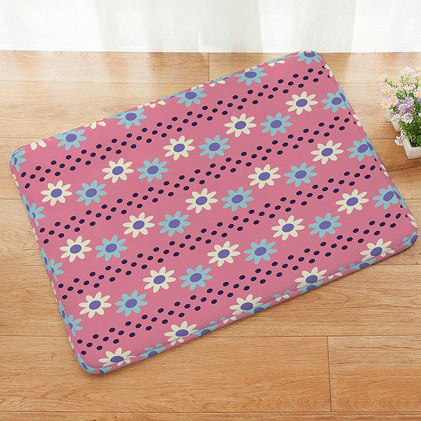 Floral Pattern Absorbent Anti-slip Doormat Carpet - COLORMIX