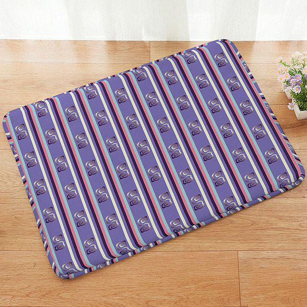 Stripe Pattern Absorbent Anti-slip Doormat Carpet - COLORMIX