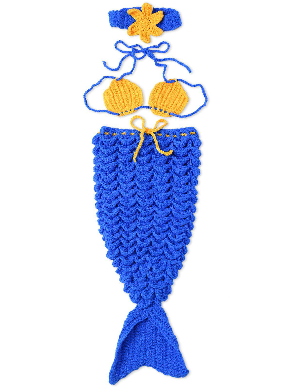 Newborn Photography Prop Crochet Mermaid Costume Set free shipping one pair viborg krell schuko version 24k gold plated audio power plug for audio power wire