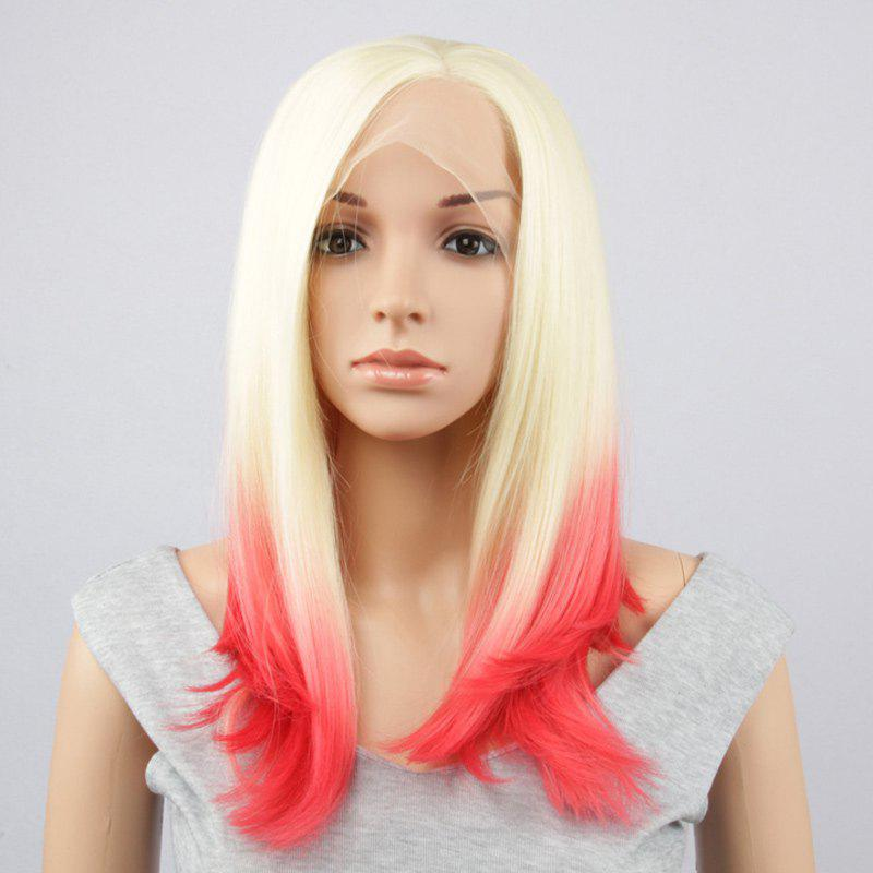 Long Side Parting Straight Synthetic Double Color Lace Front Wig n2 30 fashion reddish auburn color long straight texture synthetic lace front wig drag queen cosplay wig