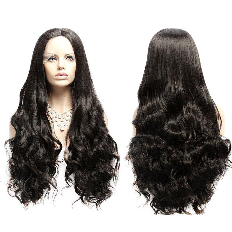 Long Wavy Fluffy Middle Part Lace Front Synthetic Wig