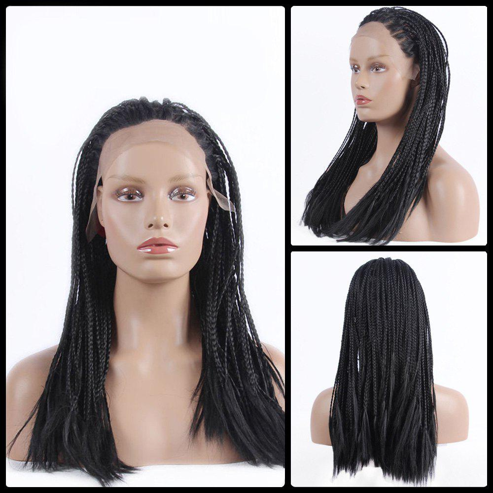 Long Braided Synthetic Lace Front Wig fully hand synthetic lace front wig braided lace front wig in medium braids with high quality synthetic hair