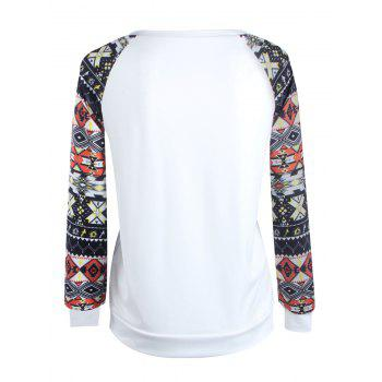 Manches Raglan imprimé tribal sweetheart T-shirt - coloré S