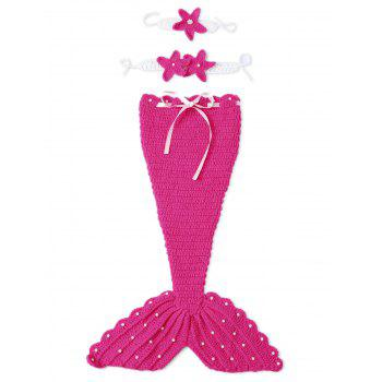 Baby 3PCS Photography Prop Knitted Mermaid Blanket Suits