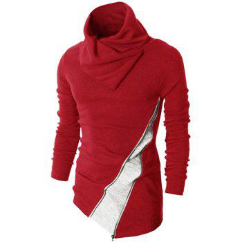 Knit Red Sweater Cheap Casual Style Online Free Shipping at ...
