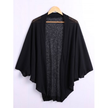 Batwing Sleeve Plus Size Cardigan