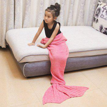 Magic Sofa Decor Kids' Knitted Mermaid Blanket - PINK