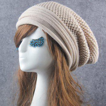 Winter Openwork Crochet Slouchy Knitted Beanie