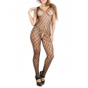 See-Through Airtex Cut Out Pyjamas