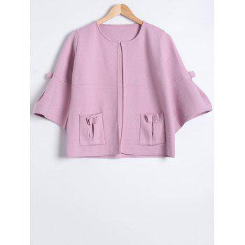 Bell Sleeve Woolen Jacket