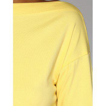 Collier Skew ample T-shirt Concise - Jaune ONE SIZE