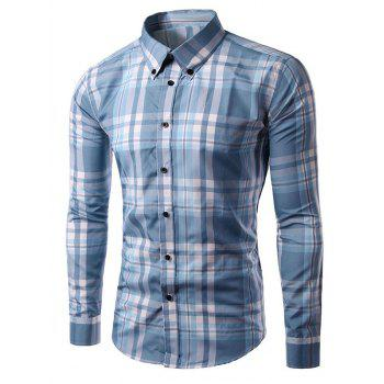 Plaid Long Sleeves Casual Button-Down Shirt