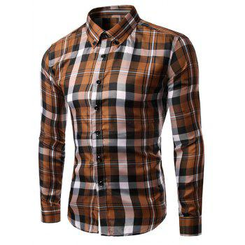 Plaid Slim Fit Long Sleeves Button-Down Shirt