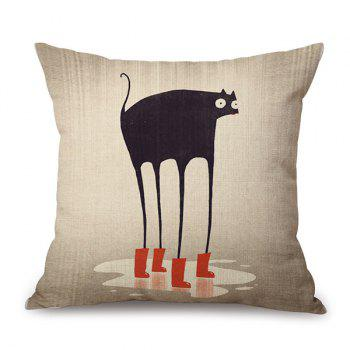Sofa Flax Decorative Cartoon Longlegs Animal Pillow Case