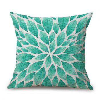 Sofa Linen Decorative Floral Leaves Printed Pillow Case