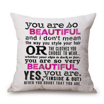 2018 You Are So Beautiful Quote Printed Cushion Pillow