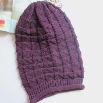 Winter Triangle Jacquard Knitted Slouchy Beanie
