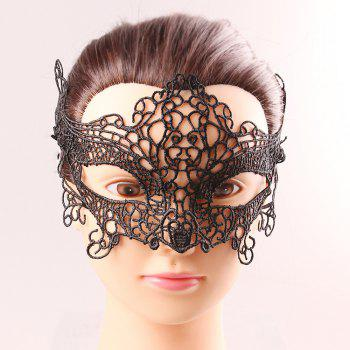 Upper Half Face Black Lace Hollow Out Carnival Masquerade Masks