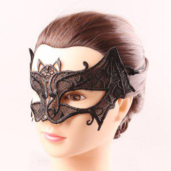 Upper Half Face Hollow Out Black Lace Carnival Masquerade Masks -  BLACK