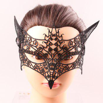 Goddess Upper Half Face Hollow Out Black Lace Carnival Masquerade Masks