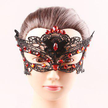 Bat Rhinestone Half Face Cut Out Lace Masks