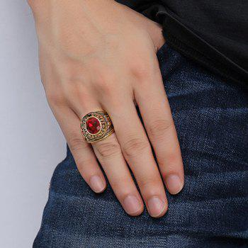 Bague en alliage Faux Ruby Oval Shape - Rouge 8