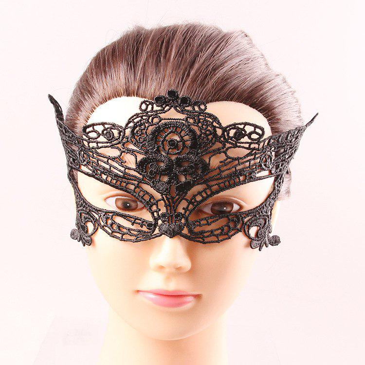 Goddess Half Face Black Lace Hollow Out Carnival Masquerade Masks yr hc angela masquerade crossdresser silicone female boobs realistic goddess face for halloween feminine half body breasts tits