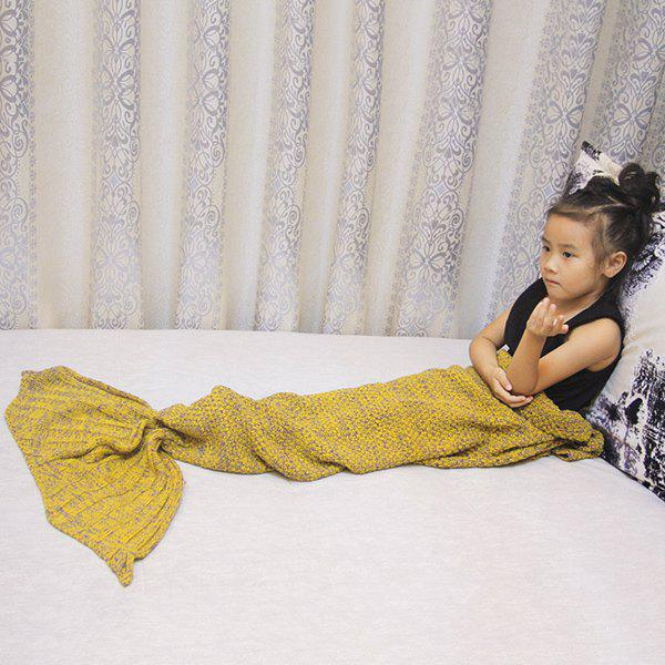 Magic Sofa Decor Kids' Knitted Mermaid Blanket - GINGER