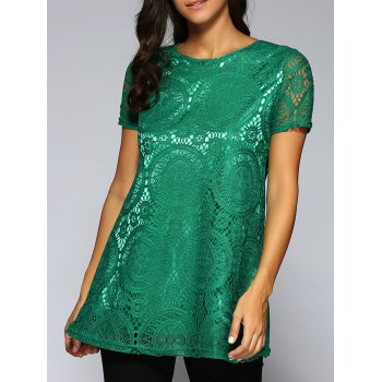 Lace Openwork Tee