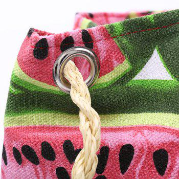Leisure Watermelon Print and Weaving Design Women's Shoulder Bag - PINK / GREEN