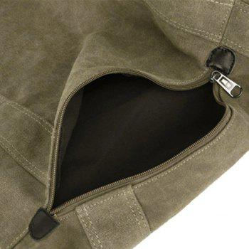 Concise Canvas and Drawstring Design Men's Backpack - COFFEE