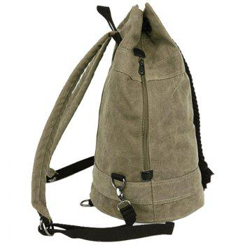 Concise Canvas and Drawstring Design Men's Backpack -  DEEP BLUE