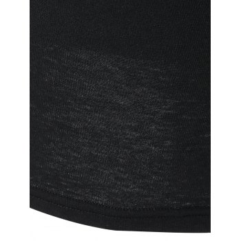 Off the Shoulder Flare manches Fitting T-shirt - Noir L