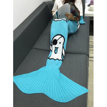 Multicolor Halloween Ghost Crochet Knitting Mermaid Tail Style Blanket