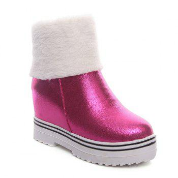 Zipper Hidden Wedge Snow Boots