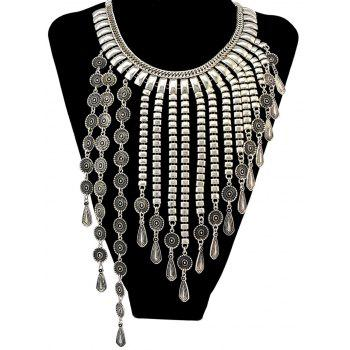Vintage Alloy Geometric Water Drop Necklace