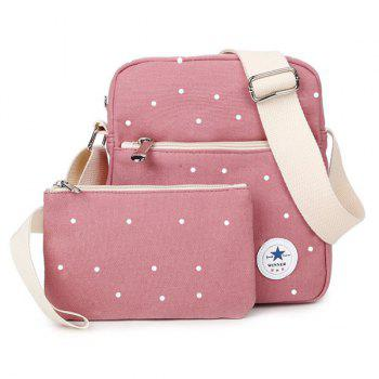 Canvas Weaving Point Crossbody Bag