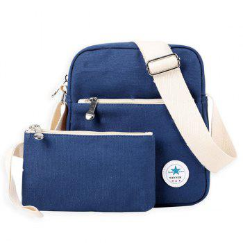 Zipper Canvas Crossbody Bag