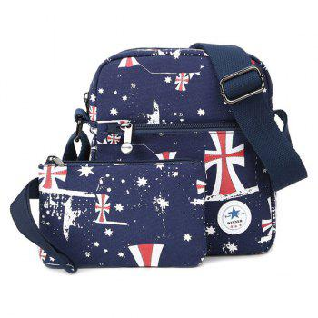 The Union Flag Printed Canvas Crossbody Bag