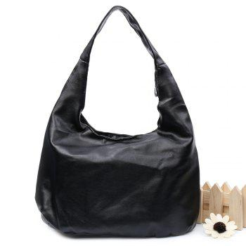 Stylish PU Leather and Black Colour Design Women's Shoulder Bag