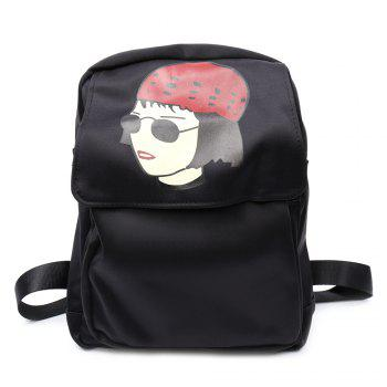 Trendy Magnetic Closure and Girl Pattern Design Women's Backpack