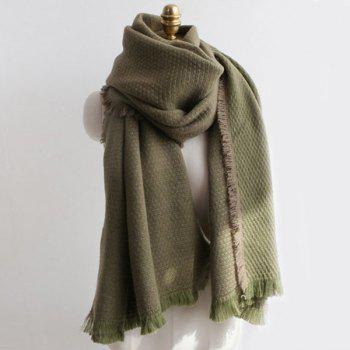 Warm Fringed Edge Weaving Shawl Wrap Scarf