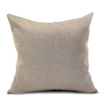Number 8 Printed Sofa Cushion Pillow Case - BEIGE