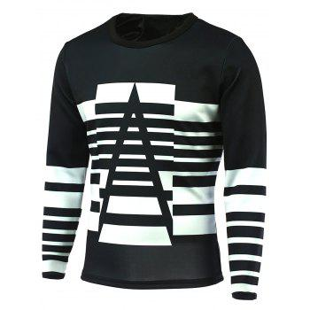Long Sleeve Striped Round Neck T-Shirt