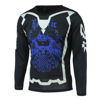 Long Sleeve Abstract Printed T-Shirt