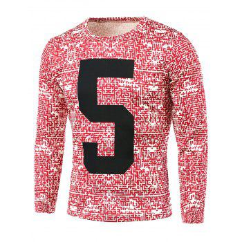 Number Pattern All Over Printed T-Shirt